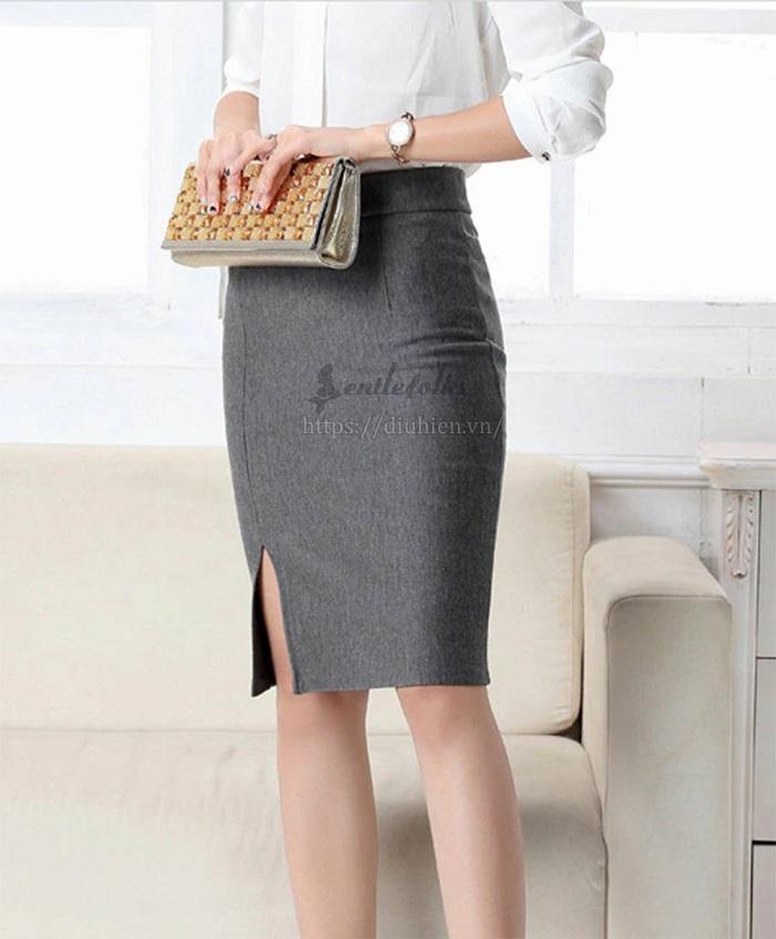 áo kết hợp với chân váy bút chì