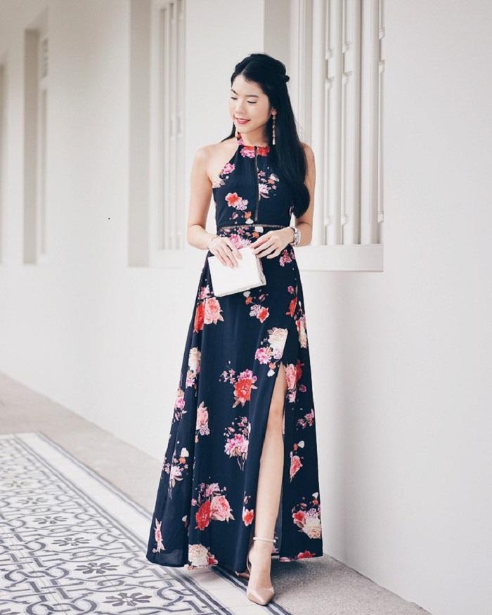 Chân váy dài chấm gót có nhiều kiểu dáng đa dạng không?