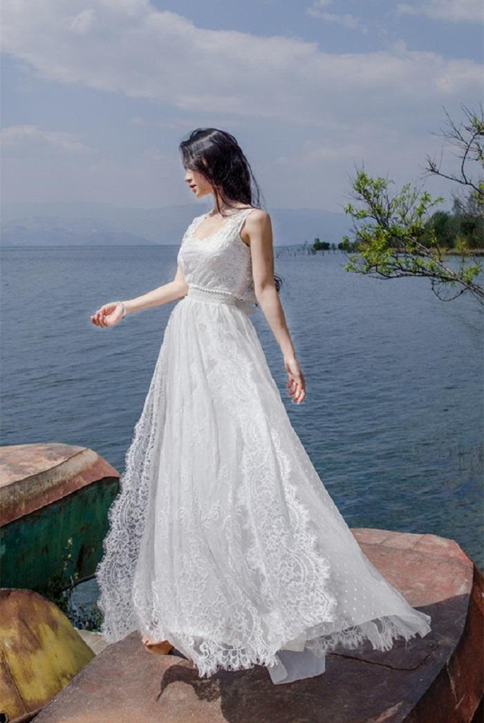 Váy maxi ren- maxi dài đi biển