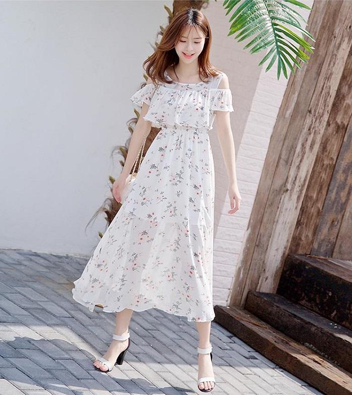 Cập nhật những mẫu váy đầm maxi họa tiết