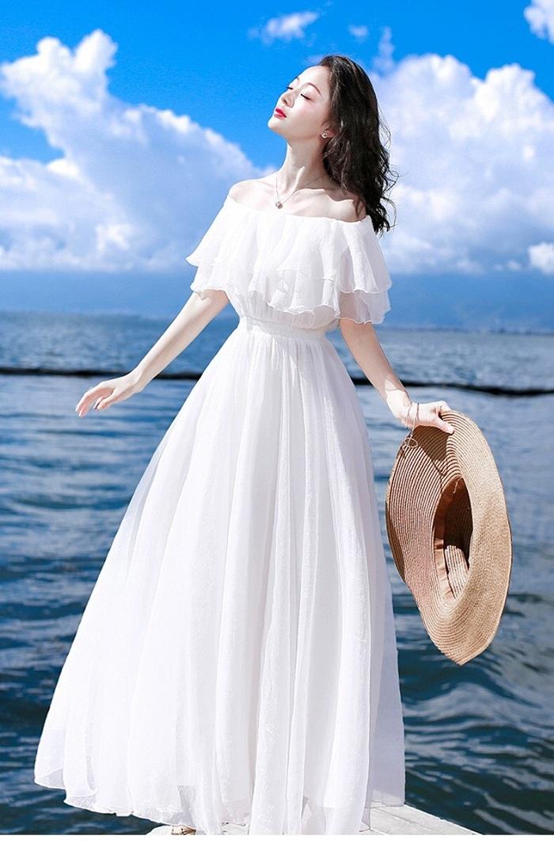 Váy đầm maxi dài chấm gót đẹp tôn nét nữ tính mảnh mai