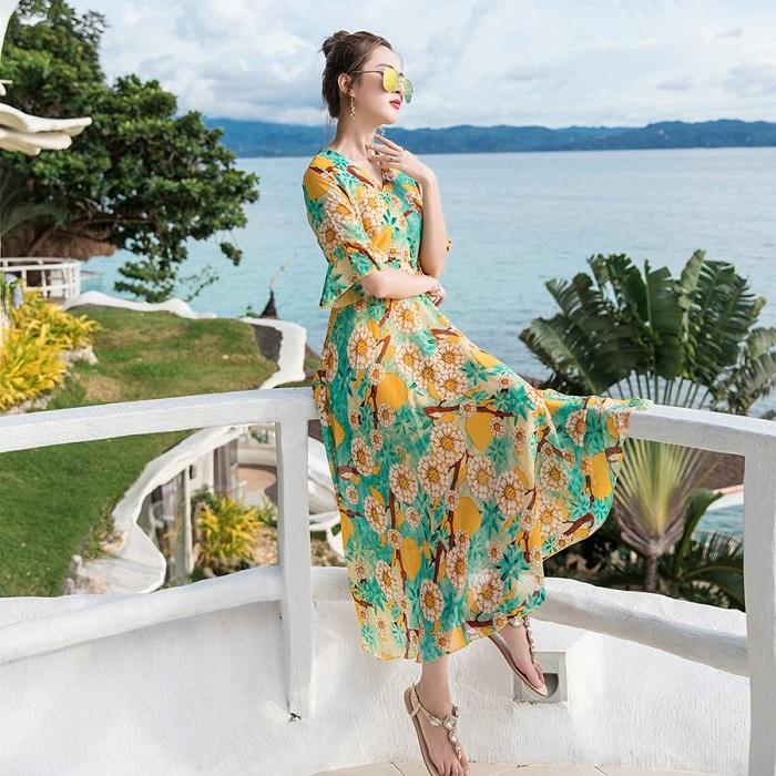 Váy đầm maxi ĐẸP đi BIỂN đi DỰ TIỆC giá rẻ