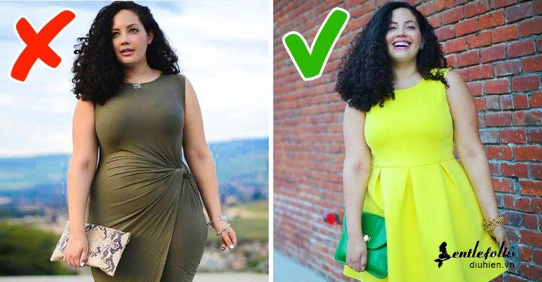 Váy suông chữ A cho người béo