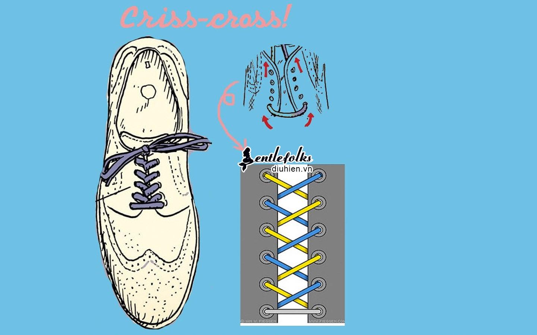 Cách thắt dây giày criss cross