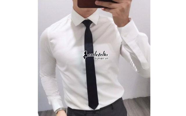Chọn cà vạt cho áo sơ mi trắng