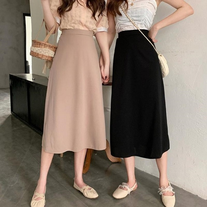 Chân váy đầm công sở dáng suông