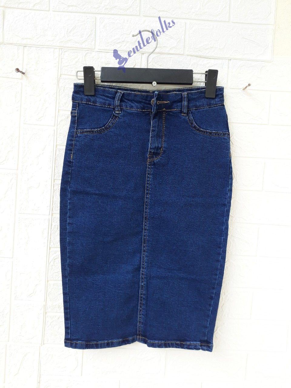 Cách phối đồ với chân váy jean ôm