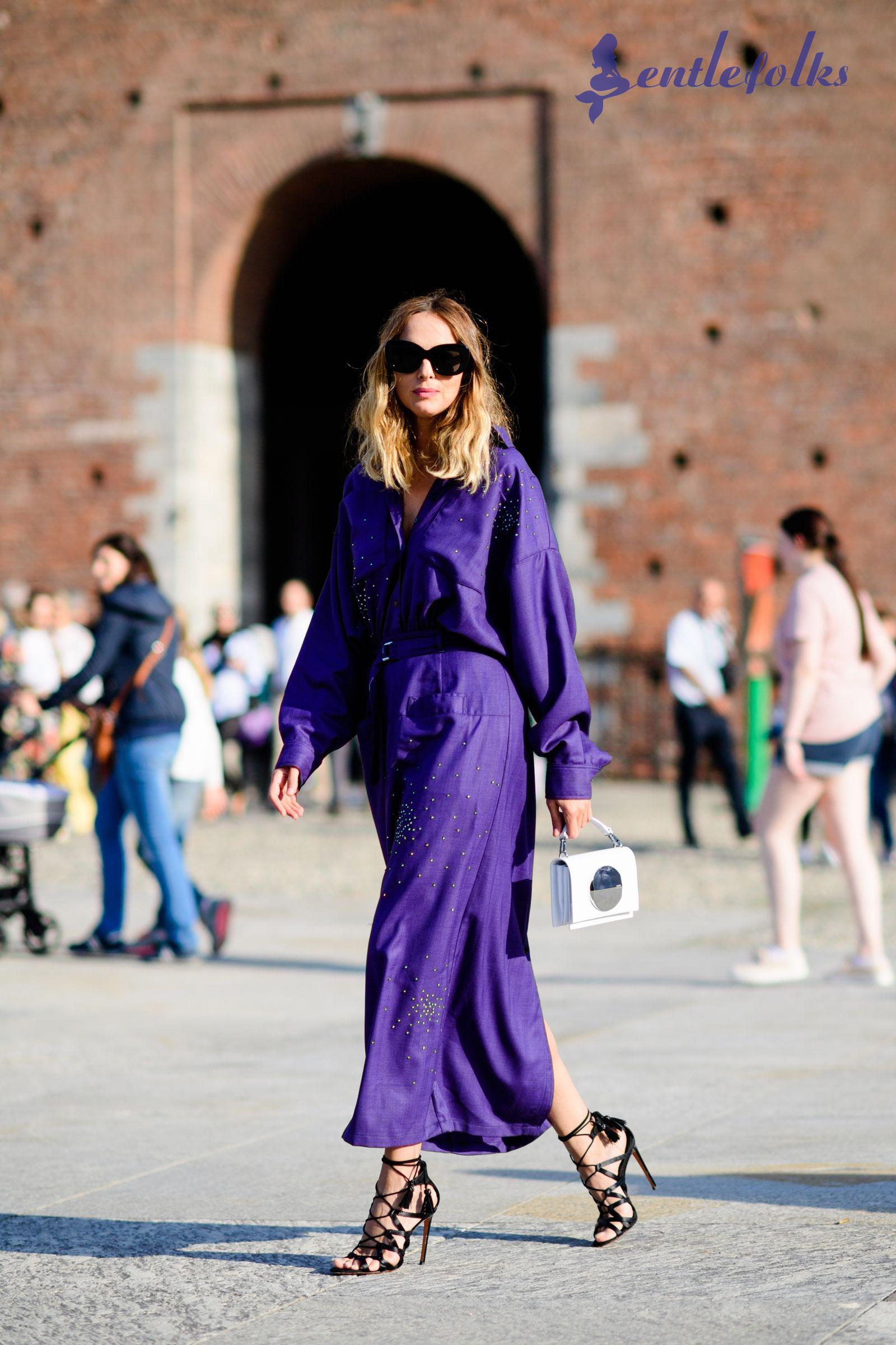 Kết hợp váy maxi với giày cao gót rất hợp thời trang